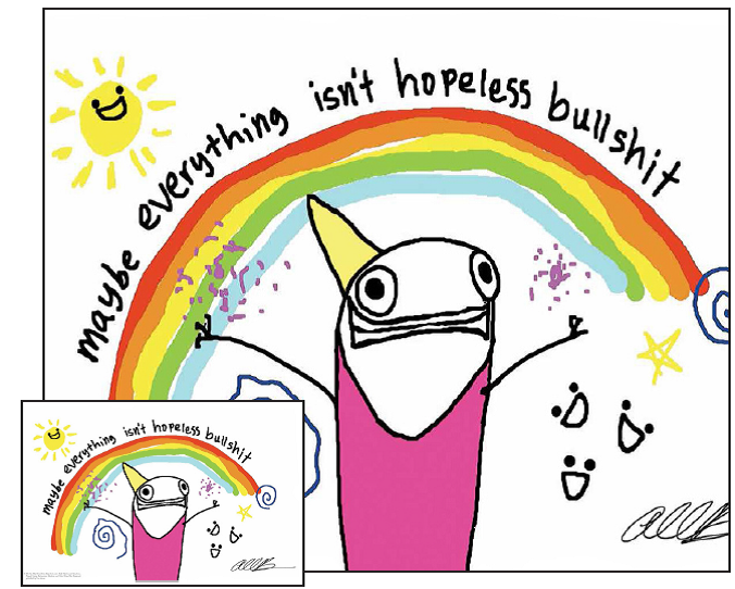 Bring A Little Allie Brosh Home With This Signed Four