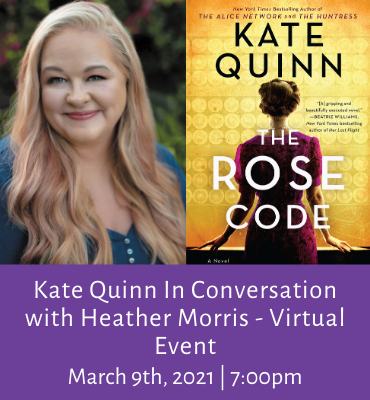 Kate Quinn Virtual Event
